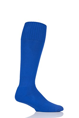 Hombres 1 Par Sockshop Of London Fabricado En El Reino Unido Plain Soccer Socks Royal