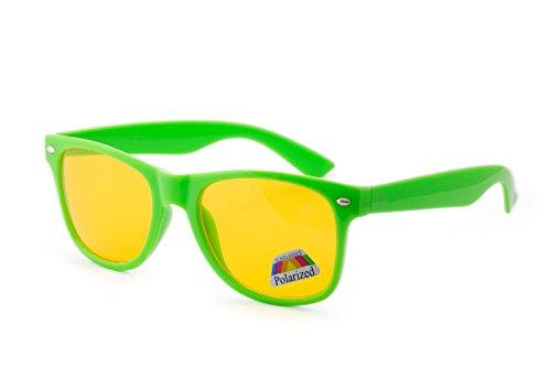 Polarized de sol Gafas hombre morefaz Green Neon para HE0q55Wxfw