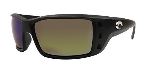 Costa Del Mar Permit Sunglasses, Black, Green Mirror 580G Lens