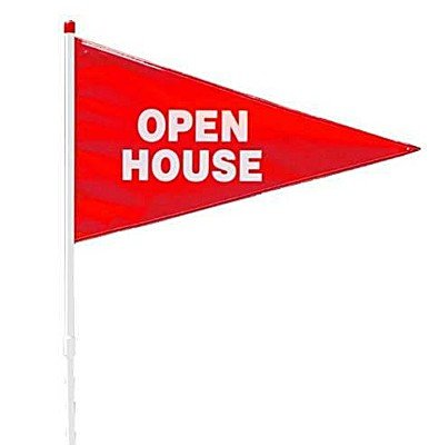 - Open House PVC Pennant Flag Pole (Red)
