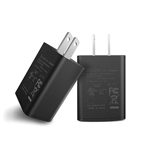 """Kindle Fire Fast Charger, [UL Listed] ZtotopCase AC Adapter 2A Rapid Charger with 5.0 FT Micro-USB Cable for Kindle Fire HD 7 8 10 Tablet and Phones Kids Edition HD 7"""" 8"""" 10.1"""", Black"""