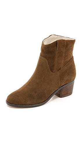 Matt Bernson Women's Colt Booties, Bark/Cream, 7.5 B(M) US Colt Suede Boot