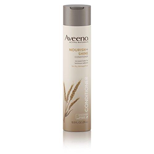 Aveeno Nourish+ Shine Illuminating Conditioner For Shiny Hair, 10.5 Fl. Oz (Pack of 3)