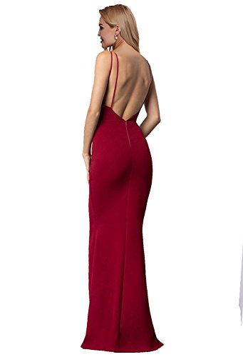 Besswedding Satin Sirène Femmes Longues Robes De Soirée 2018 De Cou V Profond Bp125 Vert