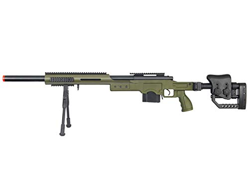 Well Full Metal MB4410 Airsoft Spring Sniper Rifle W/Bipod - OD Green