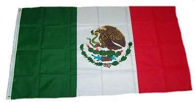 Bandera / Bandera de México NUEVO 150 x 250 cm Banderas: Amazon.es: Jardín