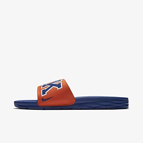 煙突ヘクタール民族主義[ナイキ] [NIKE] ベナッシ NBA ニューヨーク ニックス メンズ シャワーサンダル スリッパ ビーチ スライド 2018 日本 サイズ 29 cm [並行輸入品]