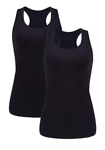 beautyin Womens Activewear Basic Cami Cotton Athletic Tank Racerback Yoga Tank Top S ()