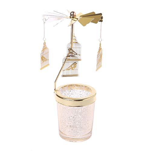 Lukalook Xmas Rotating Spinning Carousel Tea Light Candle Holder Center Home Decor ()