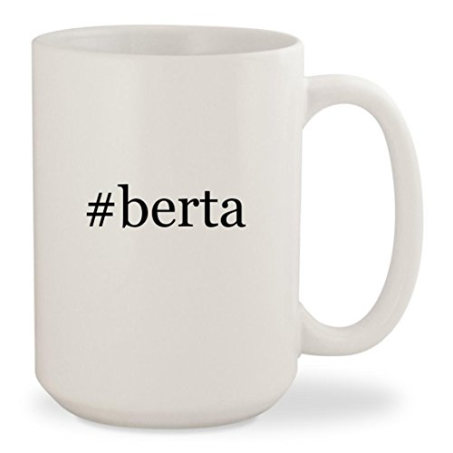 #berta - White Hashtag 15oz Ceramic Coffee Mug (Berta Grappa)