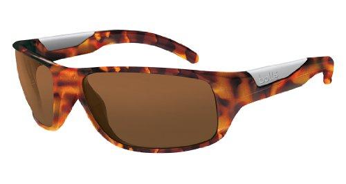 (Bolle Vibe Sunglasses, Shiny Tortoise/Polarized A-14 Oleo AF Lens)