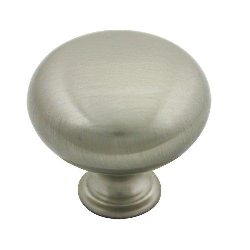 25 Pack - Cosmas 6542SN Satin Nickel Round Cabinet Hardware Knob with Backplate - 1-1/4'' Diameter