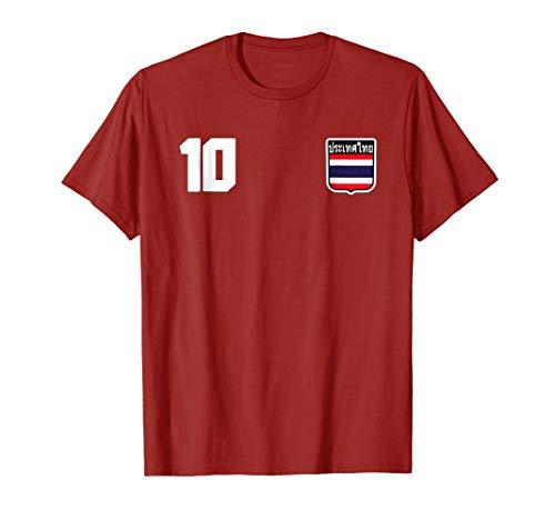 Mens Thailand T-shirt Thai Flag Sports 3XL - Soccer Jersey Thai