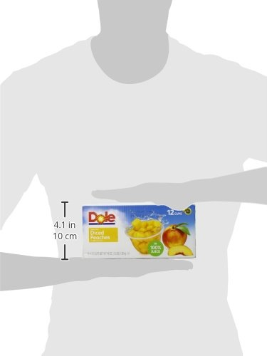 Dole Fruit Bowls, Yellow Cling Diced Peaches in 100% Juice, 4 Ounce Cups, (Pack of 12) by Dole (Image #5)