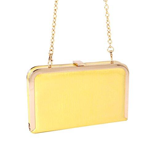 Handbag Crossbody Women Evening Purse Shoulder for Clutch Bag Yellow w7xqv