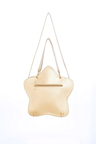 Candy Star Bags Gold Clear Transparent Kawaii Ita Handbag Champagne Lolita Backpacks Purse Crossbody Leather Bag p0Fwqd