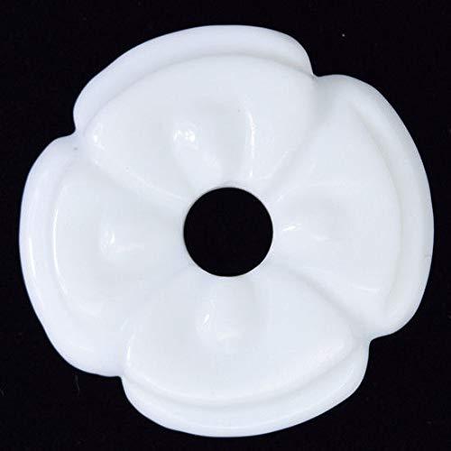 45mm White Jade Carved Donut Pendant - Pendant 45mm Donut
