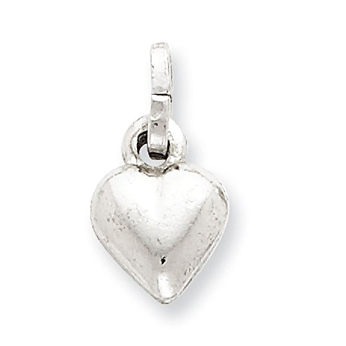 Wide Puffed Heart - West Coast Jewelry Sterling Silver Puffed Heart Charm