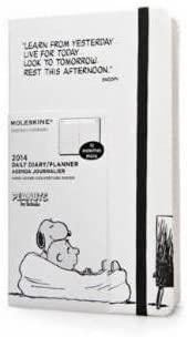 Moleskine 2014 Planner 12 Month Peanuts Daily Large White