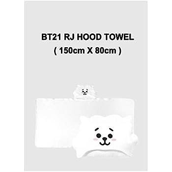 BT21 RJ Hood Towel 150cm x 80cm