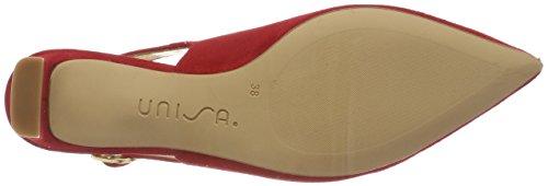 Unisa Jaima_ks, Sandali con Cinturino alla Caviglia Donna Rosso (Red)