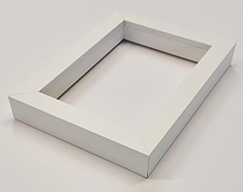 Shadowbox Gallery Wood Frames - Solid White, 8 x 10