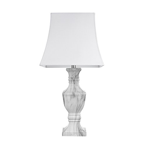 GLOBE ELECTRIC 12751 Marble Finish Table Lamp,