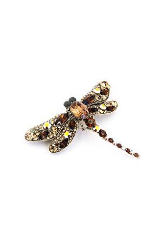 Crystal Dragonfly Barrette
