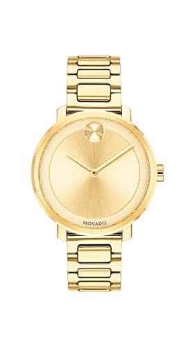 Movado Women s BOLD Sugar Dial Yellow Gold Watch with a Flat Dot, Gold Model 3600502