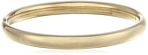 14k Yellow Gold-Filled Children's Polished Guard and Hinge Bangle (14k Yellow Gold Hinge)