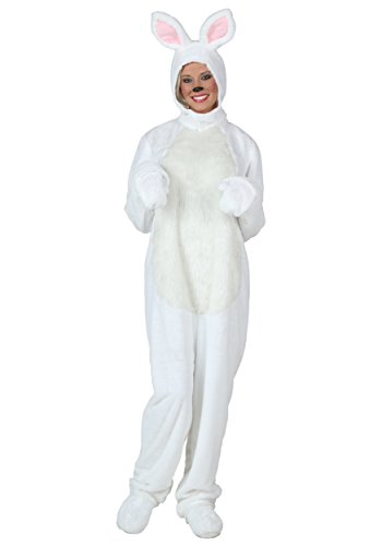 Adult White Bunny Costume -