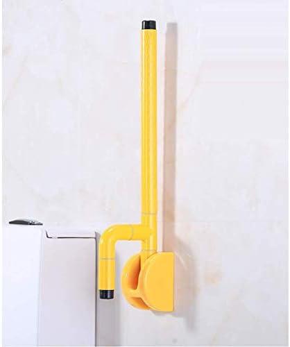 HJXSXHZ366 Ältere Patienten Hilfshandlauf Barrierefreie Klappgeländer for ältere Wohnung Behindertentoilette Bad Toilette Sicherheits Toilette Griff (Color : White)
