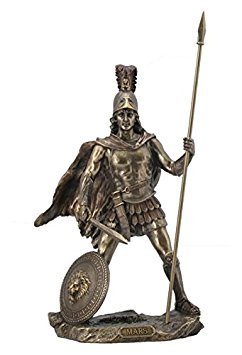(13 Inch Mars - Roman God of War with Spear Cold Cast Bronze Figurine)