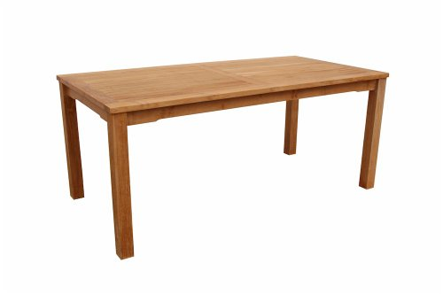 Anderson Teak Bahama Rectangular Dining Table - Anderson Teak Teak Setting