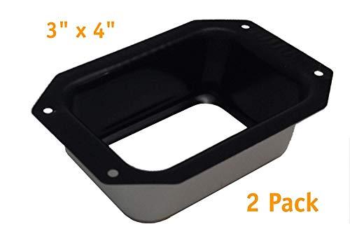 (Rainware Supply 3x4 Rectangular Aluminum Gutter Drop Outlet Connector (2 Pack))