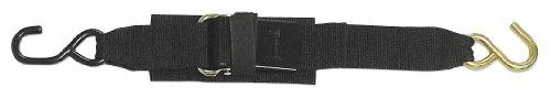 BoatBuckle Kwik-Lok Transom Tie-Down (2-Inch x 2-Feet, Black) ( Pack of 2)