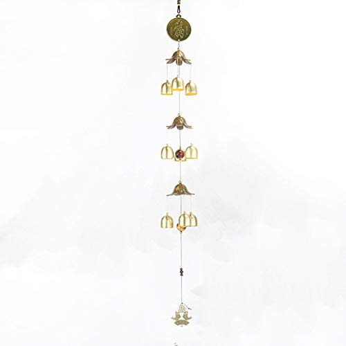 FengShuiGe Three-Layer Alloy Wind Chime/Bell Door Ornaments Hanging Town House Lucky Hanging Pendant Door Chime or Decor (Blessing)