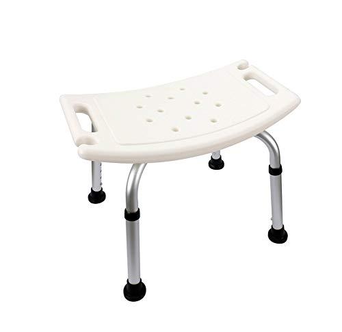 QiXian Silla de Bano, Aleacion de Aluminio Antideslizante Anciano Embarazadas Taburete del Bano Reposabrazos Invisible Azul Blanco Altura Ajustable, W