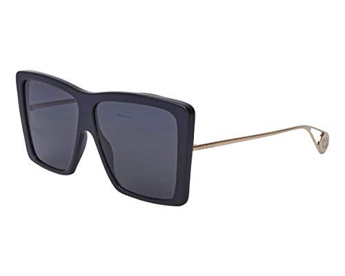 Sunglasses Gucci GG 0434 S- 001 BLACK/GREY GOLD