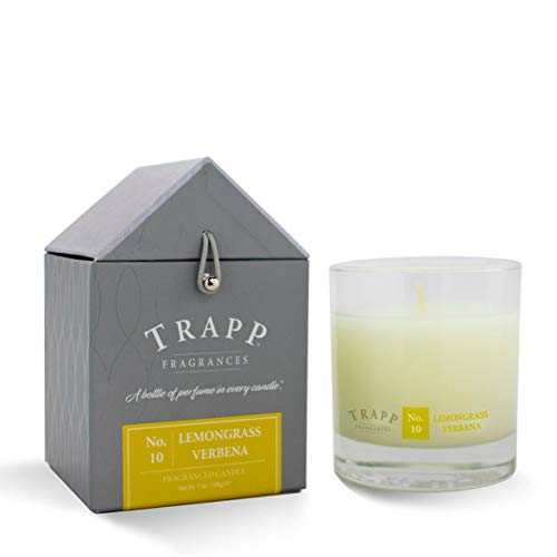 Trapp Signature Home Collection No. 10 Lemongrass Verbena Poured Scented Candle, - Candle Lemon Verbena