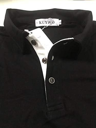 KUYIGO MEN'S LONG & SHORT SLEEVE POLO SHIRTS CASUAL SLIM FIT BASIC DESIGNED COTTON SHIRTS