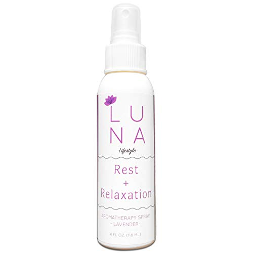 (Luna Lifestyle Premium Lavender Aromatherapy Spray - Great for Yoga, Pillow Spray, Relaxation, Sleep, and Room Spray - 100% Pure Lavender Essential Oil Mist - 10% to Charity)