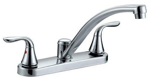 (Aqua Plumb 1558001 CUPC AB1953 8-Inch Two-Handle Polished Chrome Kitchen Faucet by Aqua Plumb )