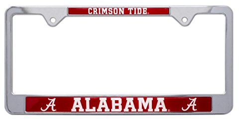 All Metal NCAA Mascot License Plate Frame (Alabama)