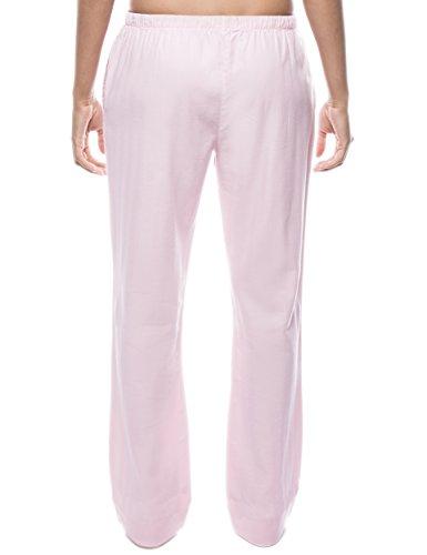 Twin Boat Pantalón Pijama de Franela de Algodón para Mujer Espiga Rosa