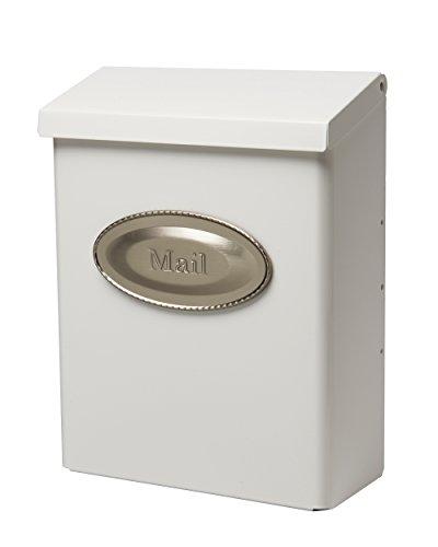 White Wall Mount Mailbox (Gibraltar Mailboxes Designer Locking Medium Capacity Galvanized Steel White, Wall-Mount Mailbox, DVKW0000)