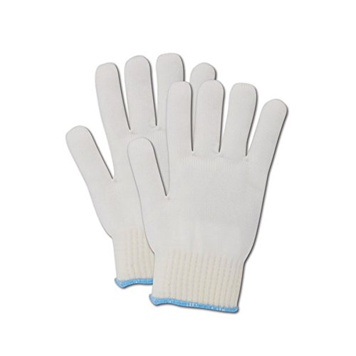 Magid Glove & Safety 5NY-M Magid Knit Master 5NY High Density Heavy Machine Knit Glove with Knit Wrist, White , Medium (Pack of 12) by Magid Glove & Safety (Image #2)