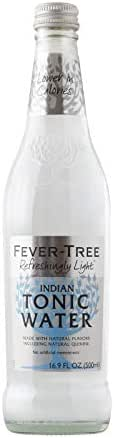 Fever-Tree Refreshingly Light Tonic Water, No Artificial Sweeteners, Flavourings or Preservatives, 16.9 Fl Oz (Pack of 8)