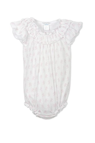 Feather Baby Girls Clothes Pima Cotton Short Sleeve Ruched Sunsuit Bubble ()