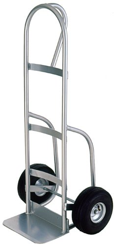 Milwaukee Hand Trucks 49262 Welded Aluminum P-Handle Truck with 10-Inch Pneumatic Tires